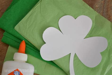 tissue paper craft for lucky shamrock tissue paper craft typically simple