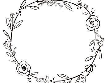 exciting black and white wreaths wreath etsy free clipart
