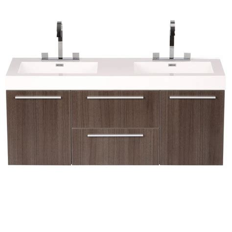 Evier Vasque Salle De Bain 4106 by Fresca Opulento 54 In Vanity In Gray Oak With