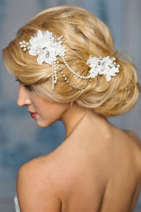 prettiest lace bridal hairpieces headpieces