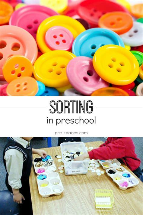preschool for preschool sorting activities