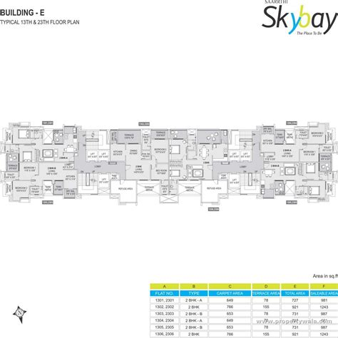 Sony Centre Floor Plan by Saarrthi Group Skybay Mahalunge Pune Apartment Flat