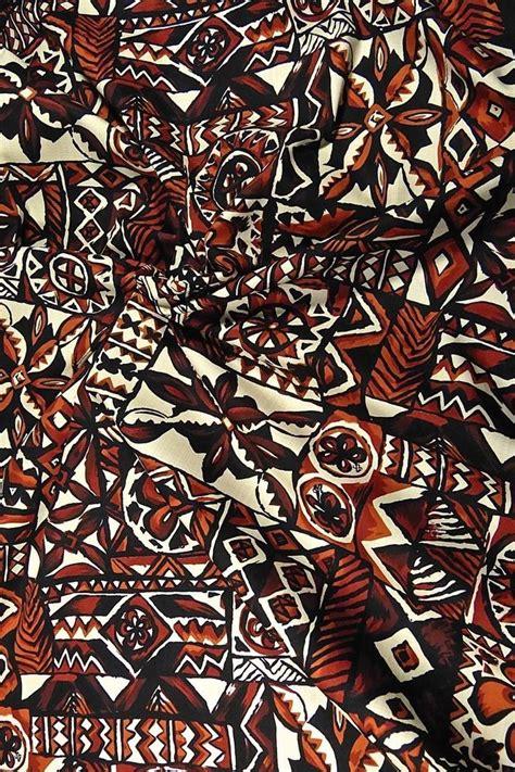 Black Tribal Brown traditional hawaiian tapa tribal print brown black cotton fabric by hoffman ebay