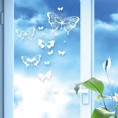 Fensteraufkleber Transparent by Fensteraufkleber Sticker Schmetterlinge Und Punkte