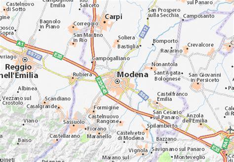 d italia modena mappa modena cartina modena viamichelin