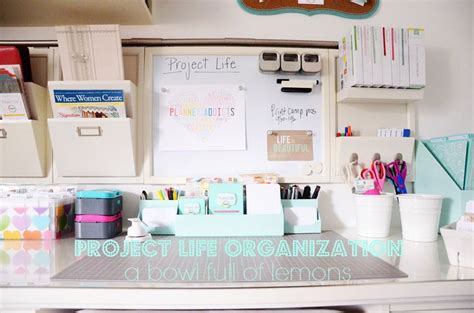 organized desk space desk organizing craft areas pinterest project life organization in your home office or craft