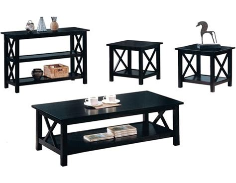 Coffee Table End Table Set Black Coffee And End Table Sets Furniture Roy Home Design