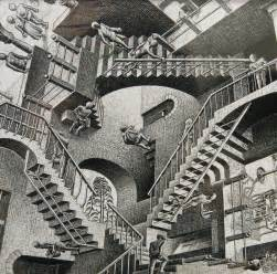 escher treppe mc escher exhibition pays tribute to master of