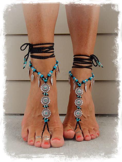 how to make beaded barefoot sandals for black barefoot bohemian wedding barefoot