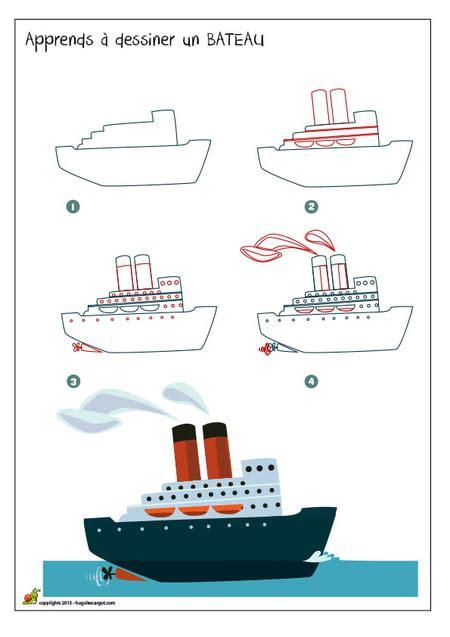 dessin facile bateau mouche dessiner un bateau