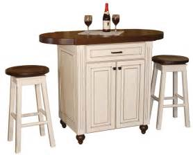amish heritage pub kitchen island with stools