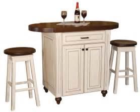 Amish heritage pub kitchen island with stools