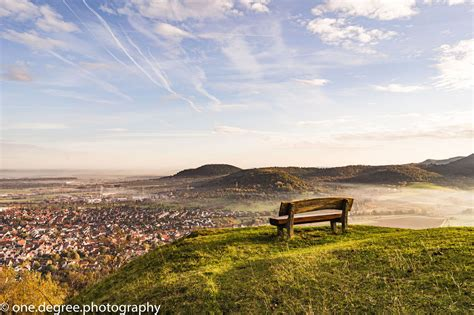 Bench On Top Of The Hill Germany
