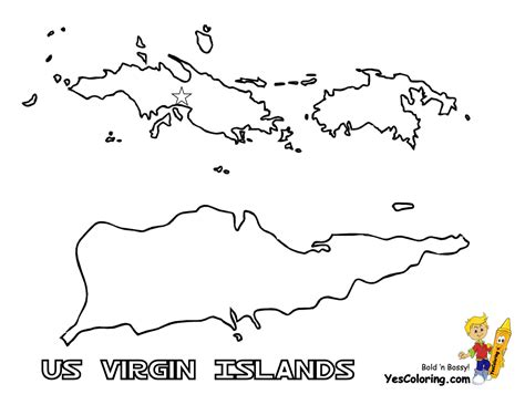 printable map virgin islands mighty map coloring pages tennessee wyoming free maps