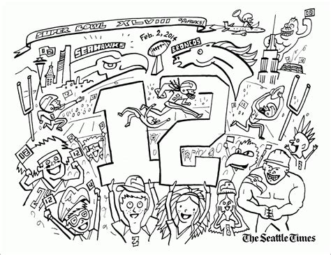 seahawks coloring pages seahawks football wilson jersey coloring pages