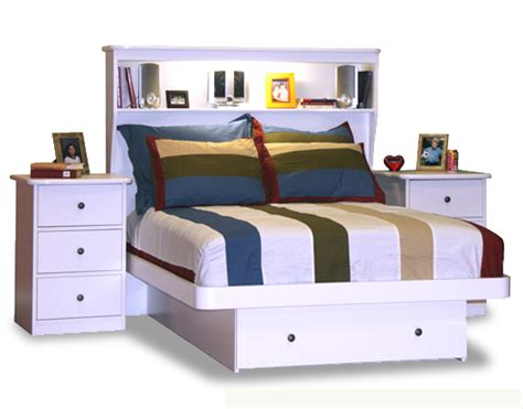 Platform Bed With Drawers And Bookcase Headboard Berg Furniture Platform Bed With Storage Drawer