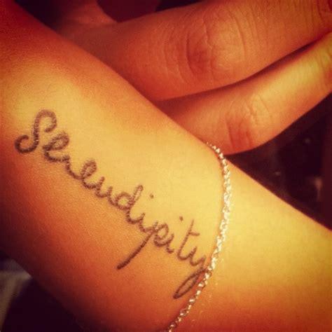 serendipity tattoo gallery serendipity wrist