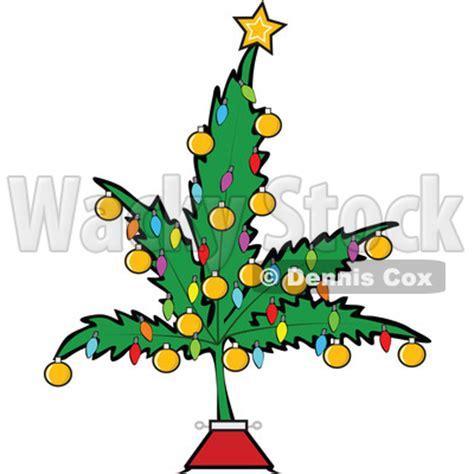 clipart of a cartoon marijuana pot leaf weed christmas