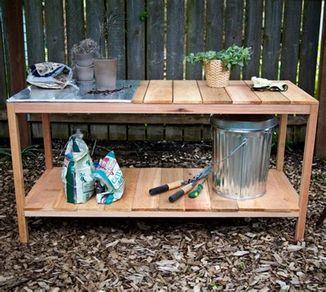 Outdoor Cooking Table by Diy Project Outdoor Planting Table Design Sponge