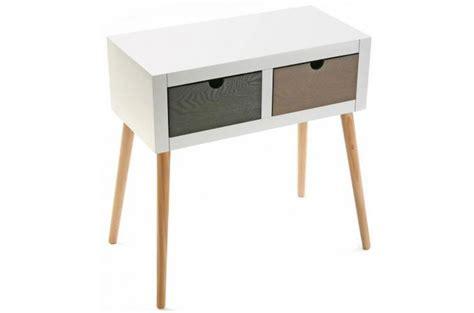 table de chevet blanc 2 tiroirs table de chevet pas cher