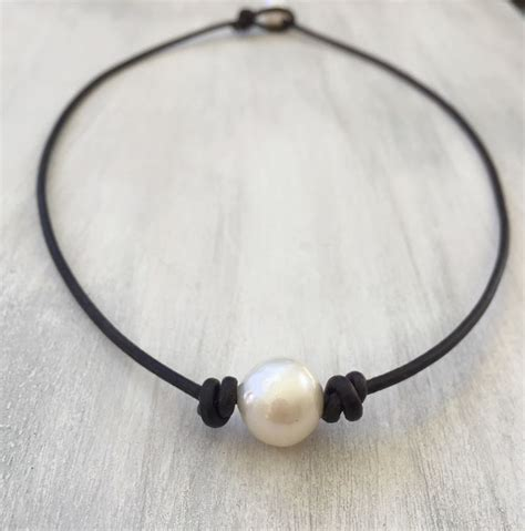 leather and pearl jewelry 25 best ideas about leather choker necklace on diy choker choker necklace diy and