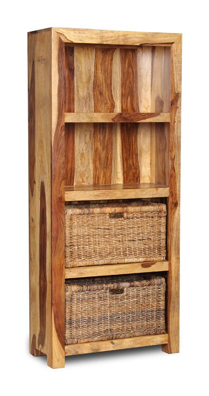 cube light bookcase with rattan baskets trade furniture