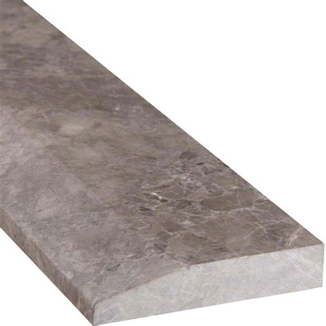tundra gray 4 215 36 single hollywood threshold polished colonial marble granite