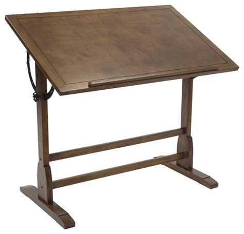 Oak Drafting Table Studio Vintage Drafting Table 42 Quot Rustic Oak Transitional Drafting Tables By Clickhere2shop