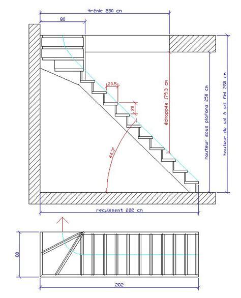 Hauteur Sous Plafond Reglementaire by Pose D Un Escalier 1 4 Tournant Haut Avec Une Hauteur Sous