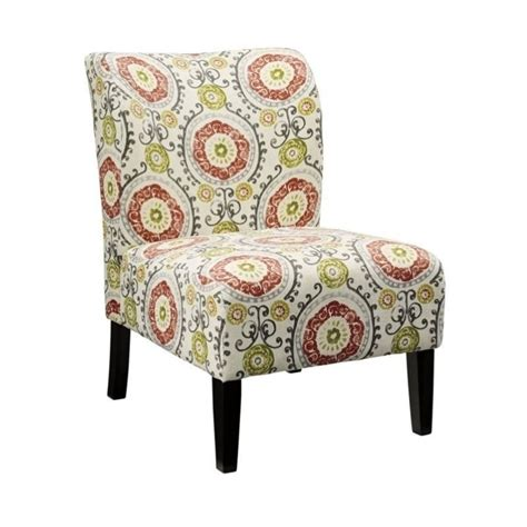 honnally fabric accent chair in floral 5330260