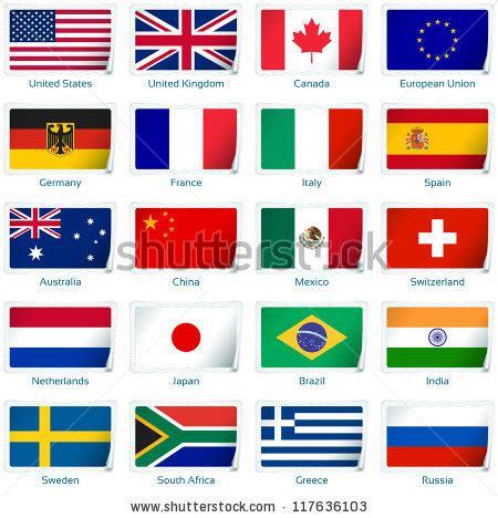 Aufkleber Länderflaggen by Aufkleber Fahnen Beliebt Vektor Illustration 3 Ebene 195