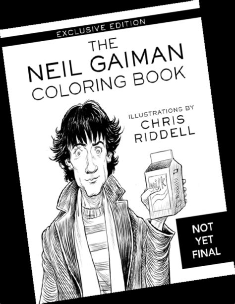 The Neil Gaiman Coloring Book bookstore day items green apple books