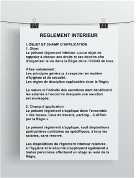 Modèle Règlement Intérieur Entreprise