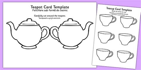 mothers day teapot card template tea pot s day card blank translation