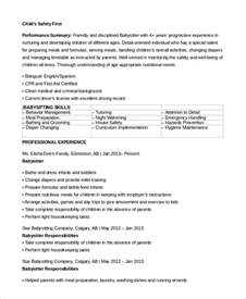 Babysitter Sample Resume sample babysitter resume 7 examples in word pdf