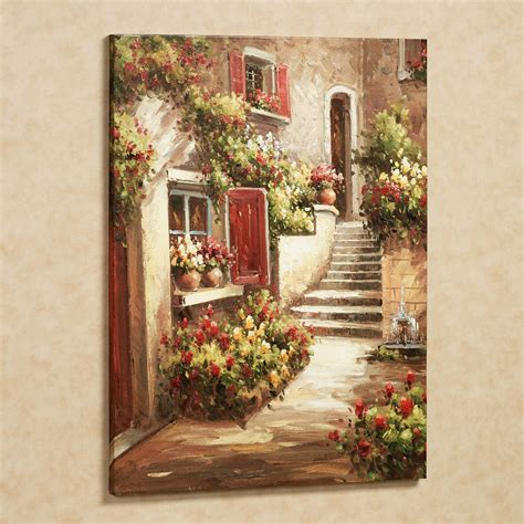 Tuscan Inspired Home Decor by Tuscan Flowers Canvas Wall Art
