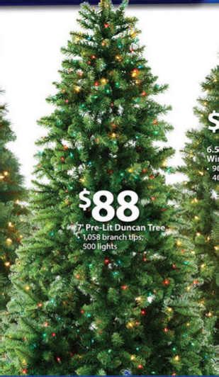 duncan fir tree black friday deal time pre lit 7 duncan fir artificial tree multi color