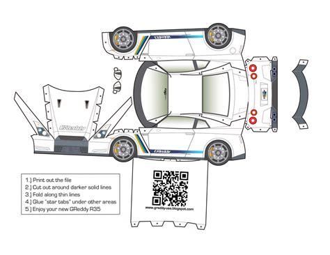 Nissan Papercraft - nissan gtr papercraft papercraft origami
