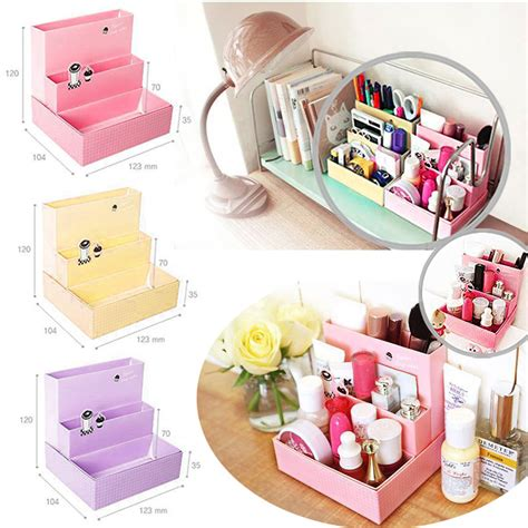 diy makeup organizer image of cheap makeup storage ideas fashion practical diy paper board storage box desk decor