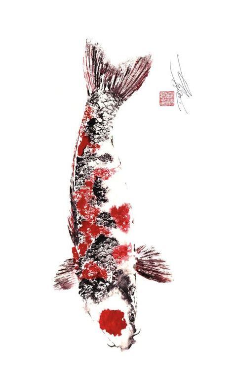 tattoo art prints last one japanese koi giclee gyotaku print