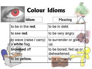 lesson 5 colour idioms ong s