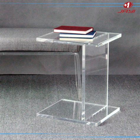 clear perspex side lucite side table perspex pedestal clear transparent