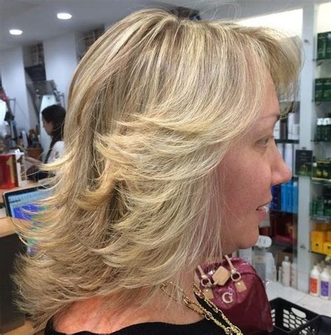medium haircut feathered backwards 60 most prominent hairstyles for women over 40 haircuts