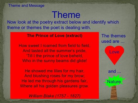 themes of love poems poetry textual analysis