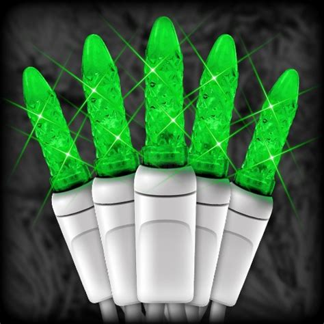 led green christmas lights 50 m5 mini led bulbs 6 quot spacing