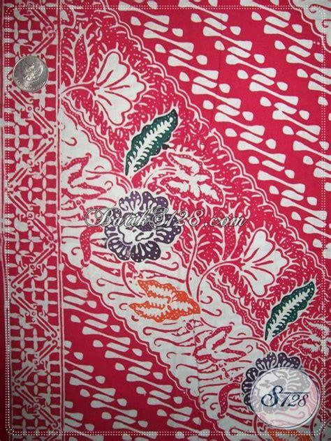 Kain Batik Kombinasi Motif Parang Bunga kain batik bahan busana blus motif parang dan bunga cocok untuk baju kerja atau kondangan