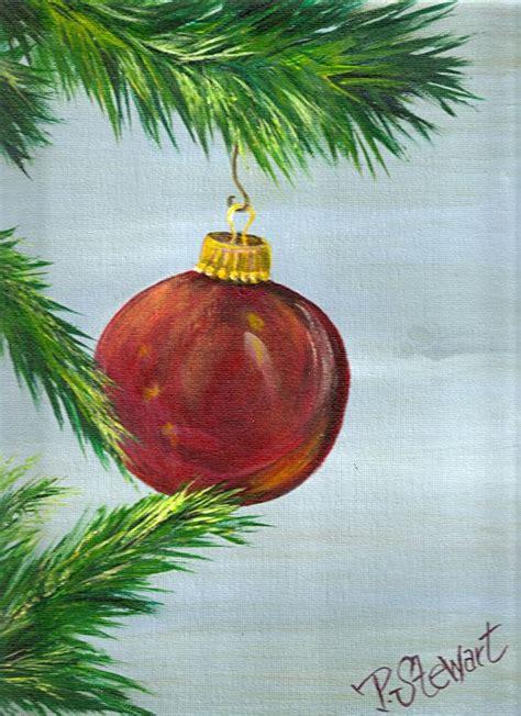 ornament paintings 9x12 quot tree ornament quot original acrylic on