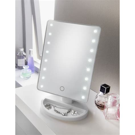 retreat led cosmetic mirror white bathroom accessories
