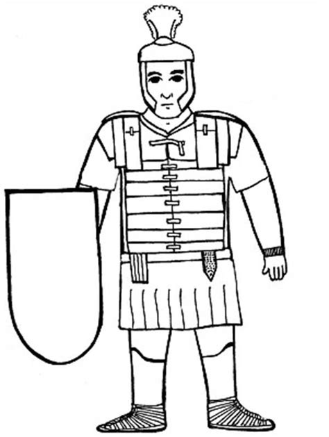 how to draw a roman soldier clipart best