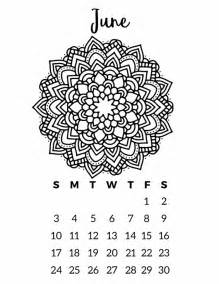 Calendar 2018 Make Your Own Free Printable 2018 Calendar Mandala Coloring Pages